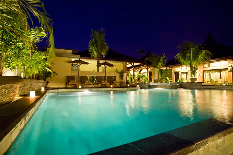 Natya Hotel Tanah Lot_Pool @ Night